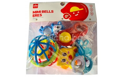 Комплект бебешки дрънкалки 6 бр