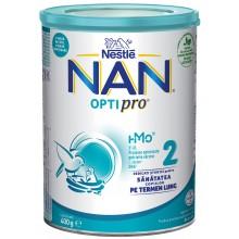Нестле Нан 2 - Nestle Nan Optipro 2 HM-O Адаптирано мляко за кърмачета 6м+ 400гр.