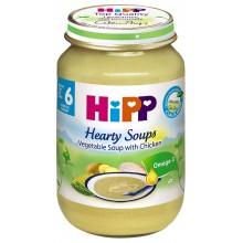 Хип пюре - Hipp Bio Зеленчукова супа с пилешко месо 190гр.