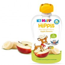 Hipp Bio Плодова закуска Ябълка и банан 100гр