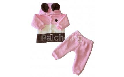 Пухен бебешки комплект за момиче 62-80
