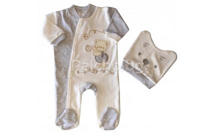 Бебешки гащеризон с шапка Мече 50-56