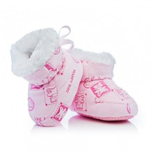 Attractive baby меки ботушки розови