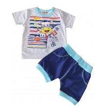 Летен бебешки комплект  Зебра 56-86