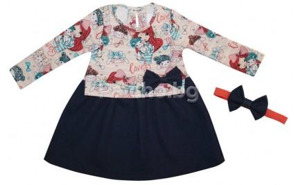 Детска рокля с лента 86-116