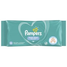 Pampers Baby Fresh Clean - Мокри кърпи Памперс 52бр.