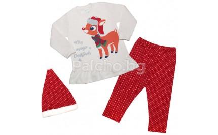 Коледен комплект за момиче 68-98
