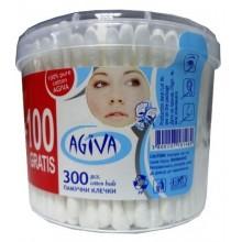 Agiva Клечки за уши без ограничител 300бр.