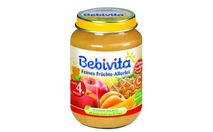 Бебивита пюре - Bebivita Различни плодове 190гр.