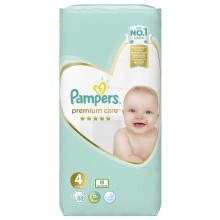 Pampers Premium Care 4 пелени 9-14кг. 52бр.