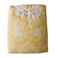 Бебешка зимна пелена Жълто мече