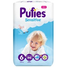 Pufies Sensitive 6 пелени 13кг.+ 44бр.