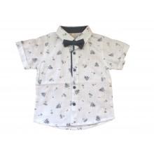 Риза с папионка 80-104 см