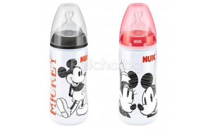 Nuk Шише със силиконов биберон Mickey 300мл.