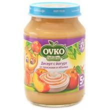 Ovko Десерт с йогурт праскови и ябълки 190гр.