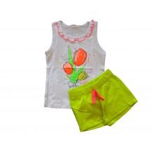 Летен комплект за момиче Цветя 98-122