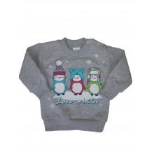 Блуза ватирана Пингвинчета 68-80