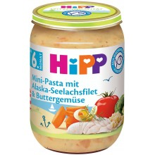 Hipp Хип рибно меню паста с треска и зеленчуци 190гр