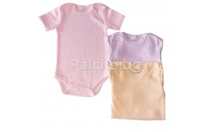 Бебешко боди с къс ръкав 62-98