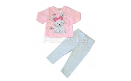 Бебешки комплект Зайче 62-80
