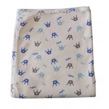 Бебешка памучна пелена Принц синя 90/90 см