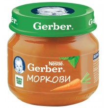 Гербер пюре - Gerber Моркови 80гр.