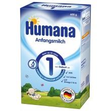 Хумана 1 - Humana 1 Мляко за кърмачета 0-6м. 600гр.