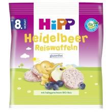 Хип Био Бебешки бисквити оризови с боровинки 35гр