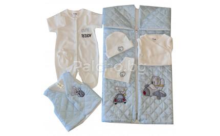 Комплект за изписване за момче с порт бебе