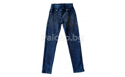 Дънков клин панталон ватиран 116-158