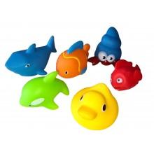 Комплект гумени играчки за баня
