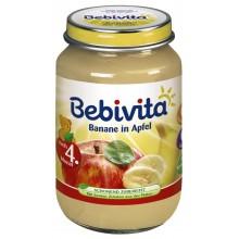 Бебивита пюре - Bebivita Банан и ябълка 190гр.
