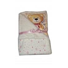 Бебешко одеяло розово