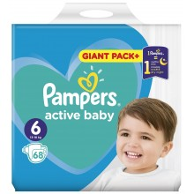 Pampers Active baby 6 пелени 13-18кг. 68бр.