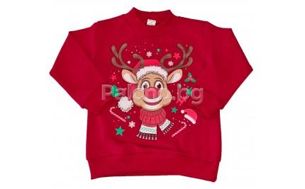 Коледна блуза Руди 86-116