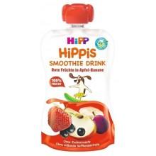 Hipp Bio Смути Ябълка, банан и червени плодове 120гр.