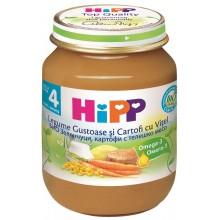 Хип пюре - Hipp Bio Зеленчуци и картофи с телешко месо 125гр.