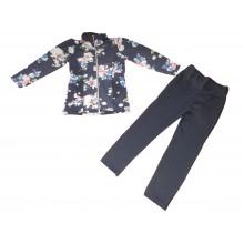 Комплект сако и клин Цветя 104-122