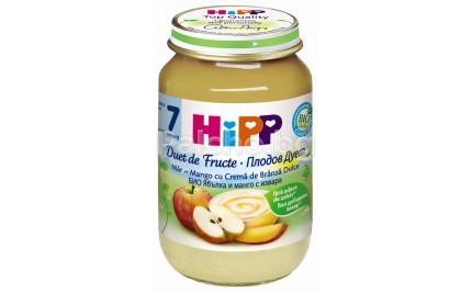 Хип Плодов дует ябълка и манго с извара 160гр.