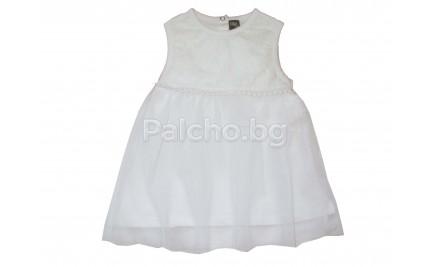 Лятна бяла рокля Делина 62-86