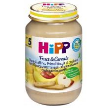 Хип каша Пълнозърнеста ябълки и банани с бисквити 190гр.