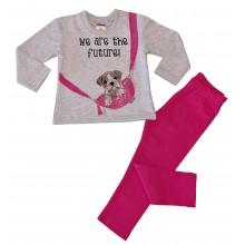Детски комплект за момиче Кученце 86-116