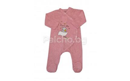 Бебешки гащеризон Розово Слонче 56-68