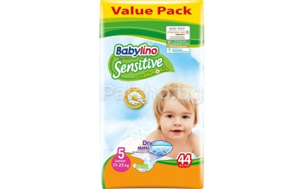 Babylino Sensitive 5 Пелени 11-25кг. 44бр.