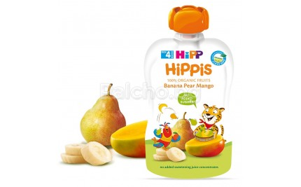 Hipp Bio Плодова закуска Банан, круша и манго 100гр