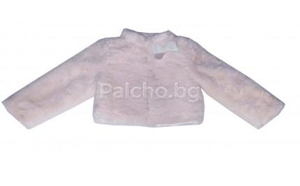 Пухкаво палтенце Контраст 74-92см