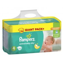 Pampers Active baby-dry 4 пелени 7-14кг. 106бр.