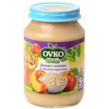 Ovko Десерт с извара ябълки и праскови 190гр.