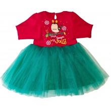 Детска  рокля с тюл 74-116