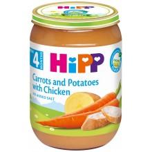 Хип пюре - Hipp Bio Моркови и картофи с пиле 190гр.